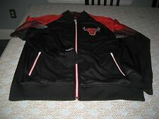 MENS Mitchell & Ness Chicago Bulls Court Vision TRACK Jacket  Black/RED L  $145