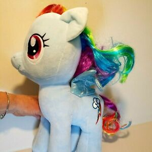 "My Little Pony Rainbow Dash ~ Build a Bear Light Blue Stuffed Plush 16"" Vtg 2018"