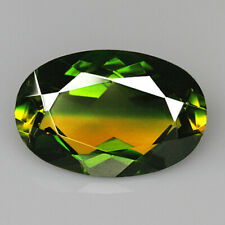 8.75Ct Man Made Bi Color Glass Yellow Green Oval Cut MQYG63