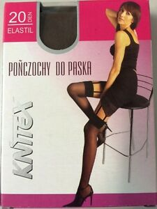 2 X Suspender Stockings/Stockings With Simple Ending 20 Den 3Farben One Size S-L
