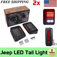07-17 Jeep Wrangler JK LED Tail Lights Reverse Brake Turn Signal Rear Lamps USA