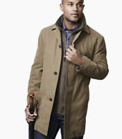 NWT - Johnston And Murphy XL Men's Double Twill Rain Trench Coat
