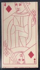 KINNEY (USA)-TRANSPARENT PLAYING CARDS (53 SUBJECTS BACK)- 12 DIAMONDS - QUEEN