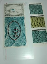 Pre Punched Pattern Card Sets For Knitting Machine Ribbers Punch Pile Patterns