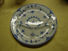 "Vintage 11"" Copenhagen England Blue Grill Plate w/ Flowers - VGC"