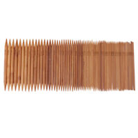 75 x Doppelseitige Stricknadeln Bambus Nadelspiel Bambusstricknadeln Set in