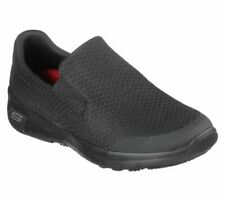 Skechers Work Black Shoes Women Memory Foam Flex Comfort Slip On Resistant 77275