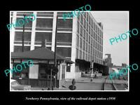 OLD LARGE HISTORIC PHOTO OF NEWBERRY PENNSYLVANIA, RAILROAD DEPOT STATION c1950