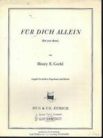 Henry E. Grehl : Für Dich Allein