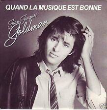 """Jean-Jaques Goldman Quand la musique est bonne (1982)  [7"""" Single]"""