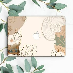 Fox Animal Floral Leaves Abstract Hard Case For Macbook Pro 13 15 16 Air 13