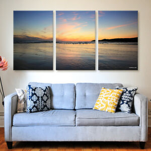 Woolacombe Sunset Tryptich Canvas