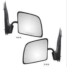 Manual Door Mirror Pair 1992-2007 Ford Econoline Van Convex Glass Paddle Type