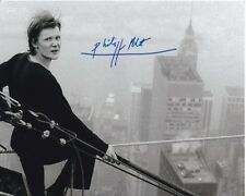 PHILIPPE PETIT Signed Autographed NYC TIGHTROPE WALKER Photo