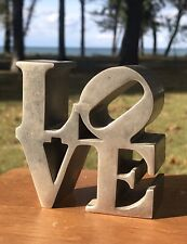 Vintage 1970 Robert Indiana Solid Aluminum LOVE Pop Art Sculpture