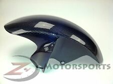 2006-2016 Yamaha R6 Front Tire Fender Mud Guard Cowl Fairing Carbon Fiber Blue