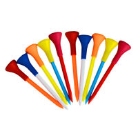 10 Pieces/Set Durable Soft Rubber Cushion Top Golf Tees Random Color Long