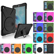 360 Hybrid Rugged Shockproof Protective Stand Case Cover For iPad 2 3 4 - Black