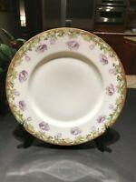 """(10) Spring Plates Vintage Weimar Germany 8 1/2"""" Porcelain Purple & Lavender"""