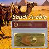WR Color Gold Saudi Arabia 200 Riyal Banknote KSA 100 Year Commemorative Bill