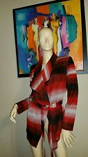 NWT Misook Acrylic blacjk, Red Open Cardigan Jacket Size M