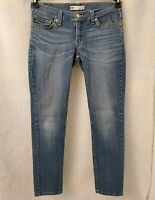 Levi's 524 Juniors Womens Blue Too Superlow Jeans Pants Size 11 M