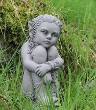 Sitting Garden Pixie fairy Garden Ornament stone Concrete sculpture DS5146