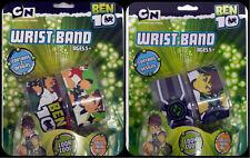 CARTOON NETWORK BEN 10 WRISTBAND 2 DESIGNS KIDS FUN GAMES BIRTHDAY GIFT