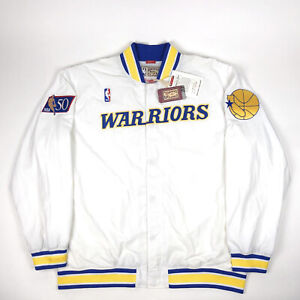 Golden State Warriors Men 3XL / 56 Mitchell Ness Hardwood Classic Warm Up Jacket