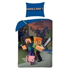 Minecraft COUVERTURE SIMPLE TAILLE 100% coton Housse NEUF - EUro - EN STOCK Now