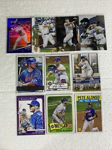 LOT OF (14) PETE ALONSO BASEBALL CARDS W/ CHROME-HOLIDAY-INSERT-BLUE FOIL🔥⚾️