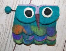 Fair Trade Felt Owl Purse Hippy Boho Festival Hippie Hand Made From Nepal New