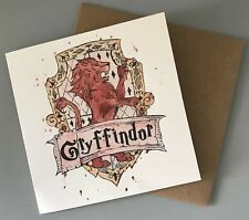 Gryffindor Illustrated Harry Potter Greetings Card