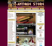 ANTIQUE STORE WEBSITE FOR SALE.Amazon Store Google Youtube Business