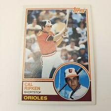 1983 Topps #163 - Cal Ripken Jr. Baltimore Orioles Baseball Card