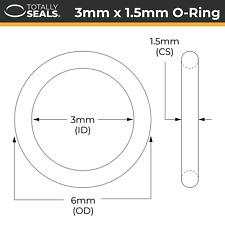 3x1.5 Nitril (NBR) O-Ringe - 3mm Innendurchmesser X 1.5mm Kreuz Bereich (6mm mm)