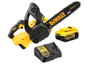 Dewalt DCM565P1 18V Cordless XR Brushless Chainsaw 30cm (1 x 5.0Ah Battery)
