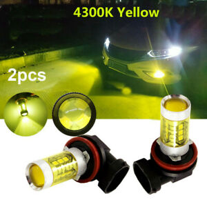 LED Fog Light Bulbs Kit 9006 HB4 4300K Yellow 80W for 2007-2010 Infiniti G35 G37