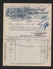 OBERTSROTH, Rechnung 1901, Bad. Holzstoff- & Pappen-Fabrik