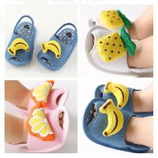 Banana Pineapple Infant Slip on Summer Sandals Newborn Baby Boy Girl Crib Shoes