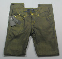 Rock Republic womens jeans size 6 Skinny Berlin gray gold pants trouser
