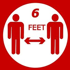 Social Distance  6 FEET Sign Red Sticker for Office Cube Receptionist Desk 5
