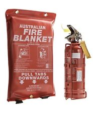 1kg Dry ChemFire extinguisher and Fire Blanket 1 meter X 1 meter Great for 4WD