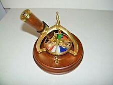 Brass & Wood Kaleidoscope Music Box Memory Cats San Francisco Music Box Co Vtg.