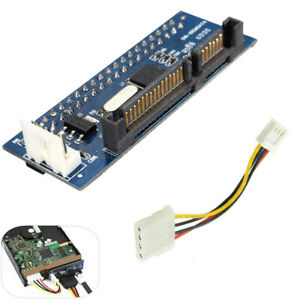 """40 Pin Female SATA IDE to 22 Pin Male Adapter PATA 3.5"""" Card for T1 Converter"""