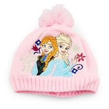 Frozen Elsa Anna bonnet Et Écharpe Lot Rose Pom age 1 - 5 years filles