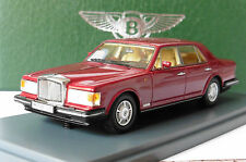 BENTLEY MULSANNE TURBO DARK RED 1982 NEO 44173 1/43 DUNKEL ROT ROUGE FONCE LHD