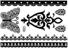 Tattoo Disposable Flash Adhesive Bride Wedding Foot Chain Henna Baptism Costume