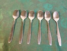 6 Elegant Vintage Stainless Hors D'Oeuvre Spoons-Free Shipping