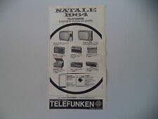 advertising Pubblicità 1964 TELEFUNKEN MIGNONETTE/KID II/MATCH/BAJAZZO/CAMPING
